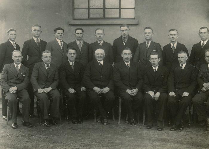 1938 Belegschaft Stahlhut