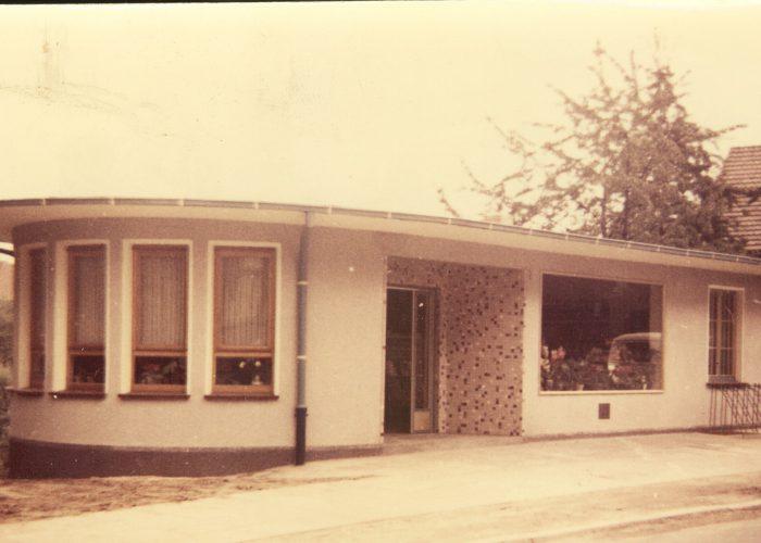 Bachstrasse 1959 - 1966 mit Pavillon und Eiscafé